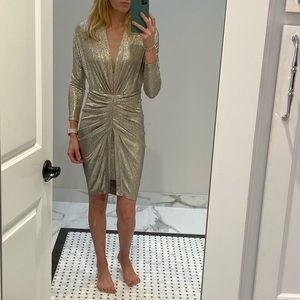 IRO Cilty Metallic Dress - Size 32 (XS)